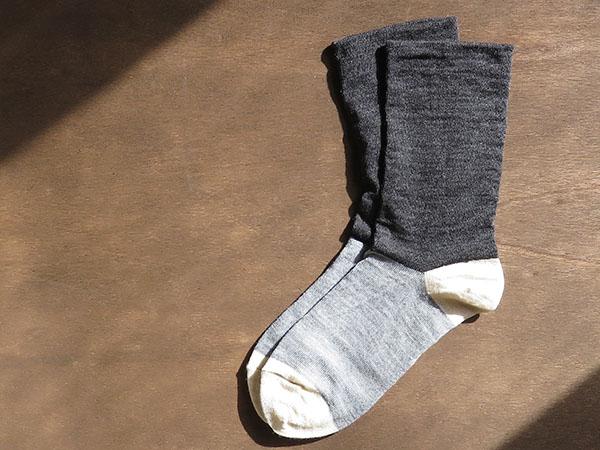 内側シルク二重靴下